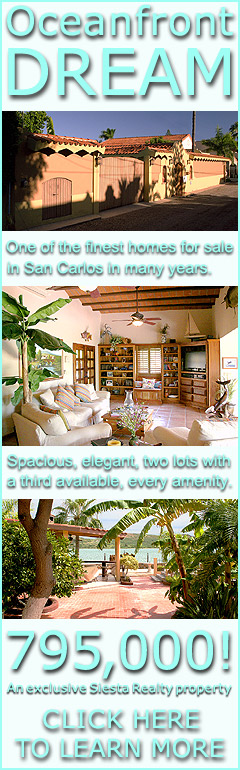 San Carlos ocean front house for sale