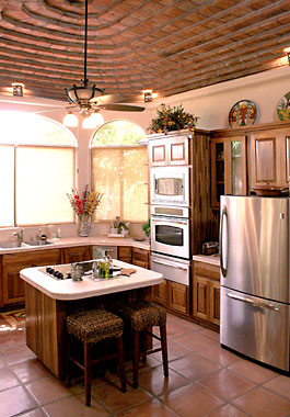 Kitchen of Bahia San Carlos oceanfront house for sale