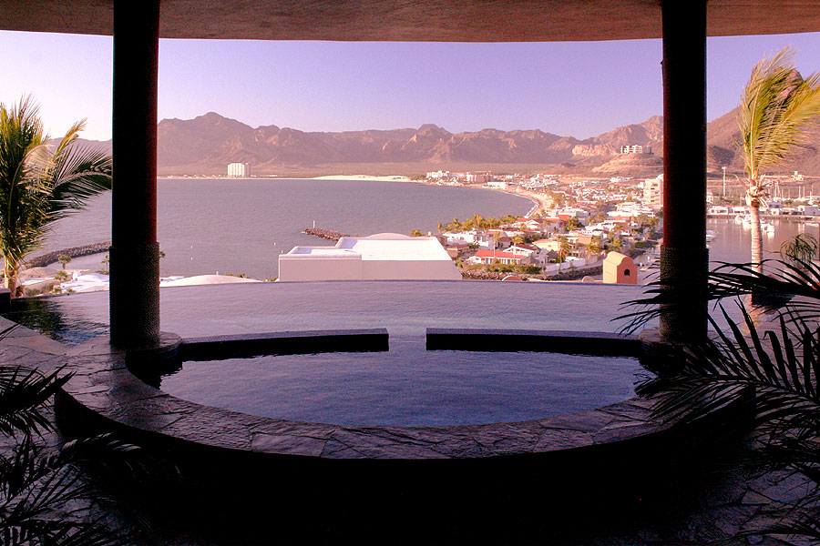 Pool overlooking Bahia in San Carlos, Sonora, Mexico