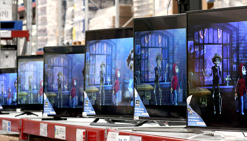 TVs for sale at Sam's Club in Guaymas, Sonora, Mexico